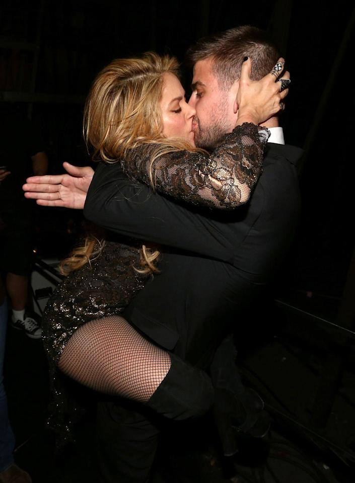 """<p>Gerard may not have seen this kiss coming when Shakira ran up to him and jumped in his arms, but Donaldson assures he has absolutely no problem with it. By immediately leaning into the kiss, Donaldson says Gerard is communicating how into Shakira he is. He's happy to take her lead. </p><p>Shakira's body language on the other hand exhibits the """"high level passion and attraction she feels for him at that moment,"""" says Donaldson. And it doesn't hurt that she's also holding the back of Gerard's head to pull him even more into her personal space...as if that were possible.<br></p>"""