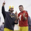 <p>Favre won a Super Bowl and three MVPs with the Packers and broke several major records along the way. But things got very uncomfortable in 2008 when he announced his retirement, then decided to un-retire after the Packers had already committed to the young Aaron Rodgers as the new franchise quarterback. Favre demanded the Packers let him sign with another team but the team refused his request, leading to a decayed relationship between the two sides. Favre was finally traded to the Jets prior to the 2008 season. It wasn't until 2015 (five years after he retired) that things were patched up enough for the Packers to welcome Favre back for his jersey retirement. </p>
