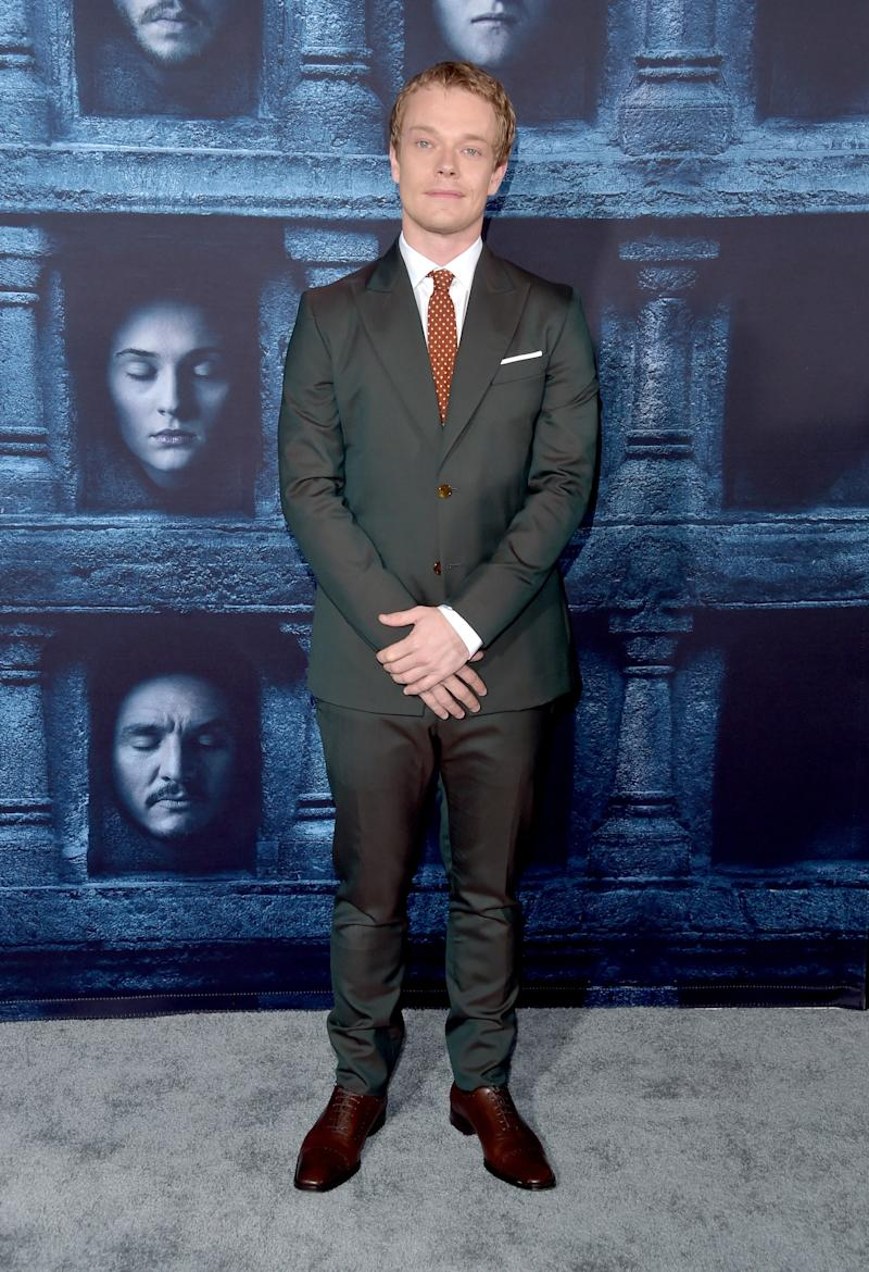 Alfie Allen at the premiere of Game of Thrones season six in Hollywood, California, April 2016.
