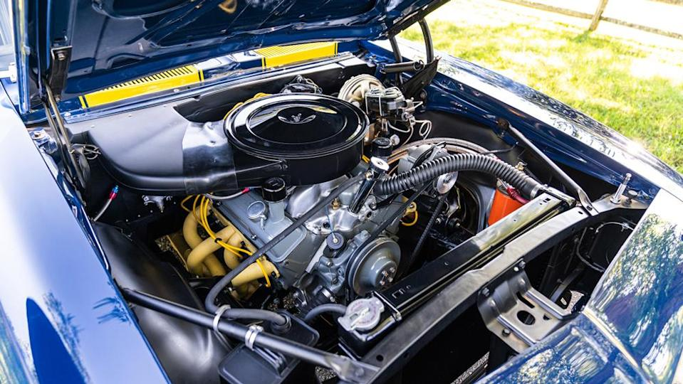 A small-block V-8 powers the Camaro Z/28 Trans Am on offer. - Credit: Photo by Dynamic Photowerks LLC., courtesy of Gooding & Company.
