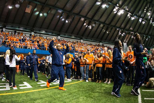 <p><strong>40. Syracuse</strong><br>Top 2017-18 sport: men's indoor track. Trajectory: Steady. After vaulting up to 21st in 2016, the Orange have returned to their more natural surroundings — 44th last year and 46th this year. Syracuse is well ahead of the surprisingly large lower class of the ACC, but a long way from competing with the top tier of the conference. </p>