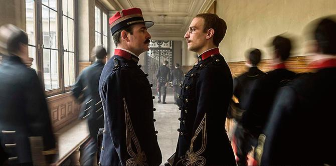 Jean Dujardin y Louis Garrel en An Officer and a Spy (Canal+)
