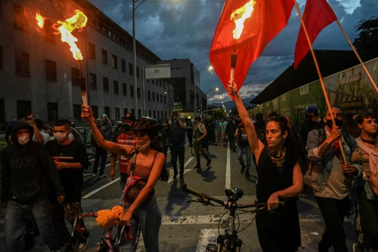 Colombians protest against police brutality