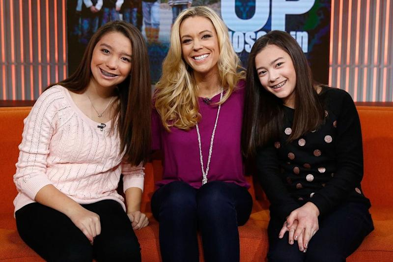 Kate Gosselin with daughters Mady and Cara | Peter Kramer/NBC/NBC NewsWire via Getty