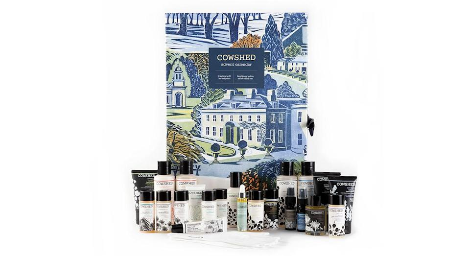 """<p>Cowshed's 2018 beauty advent calendar is home to some of its most cherished products with the likes of the label's lazy bath and shower gel making an appearance. Available online <a rel=""""nofollow noopener"""" href=""""https://www.cowshed.com/uk/advent-calendar-2018.html"""" target=""""_blank"""" data-ylk=""""slk:now"""" class=""""link rapid-noclick-resp"""">now</a> for £90. </p>"""