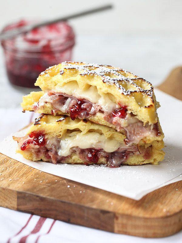 "<strong>Get the <a href=""https://www.foodiecrush.com/monte-cristo-waffle-sandwich/"" target=""_blank"">Monte Cristo Waffle Sandwich</a> recipe from Foodie Crush.</strong>"