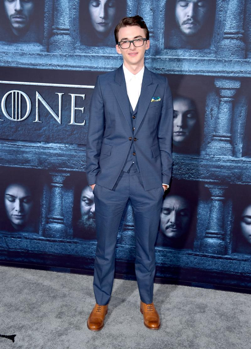 Isaac Hempstead Wright at the premiere of Game of Thrones season six in Hollywood, California, April 2016.