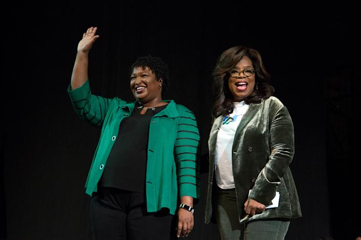 Oprah Winfrey takes part in a town hall meeting with Democratic gubernatorial candidate Stacey Abrams in Marietta, Ga., on Nov. 1, 2018. (Photo: Chris Aluka Berry/Reuters)