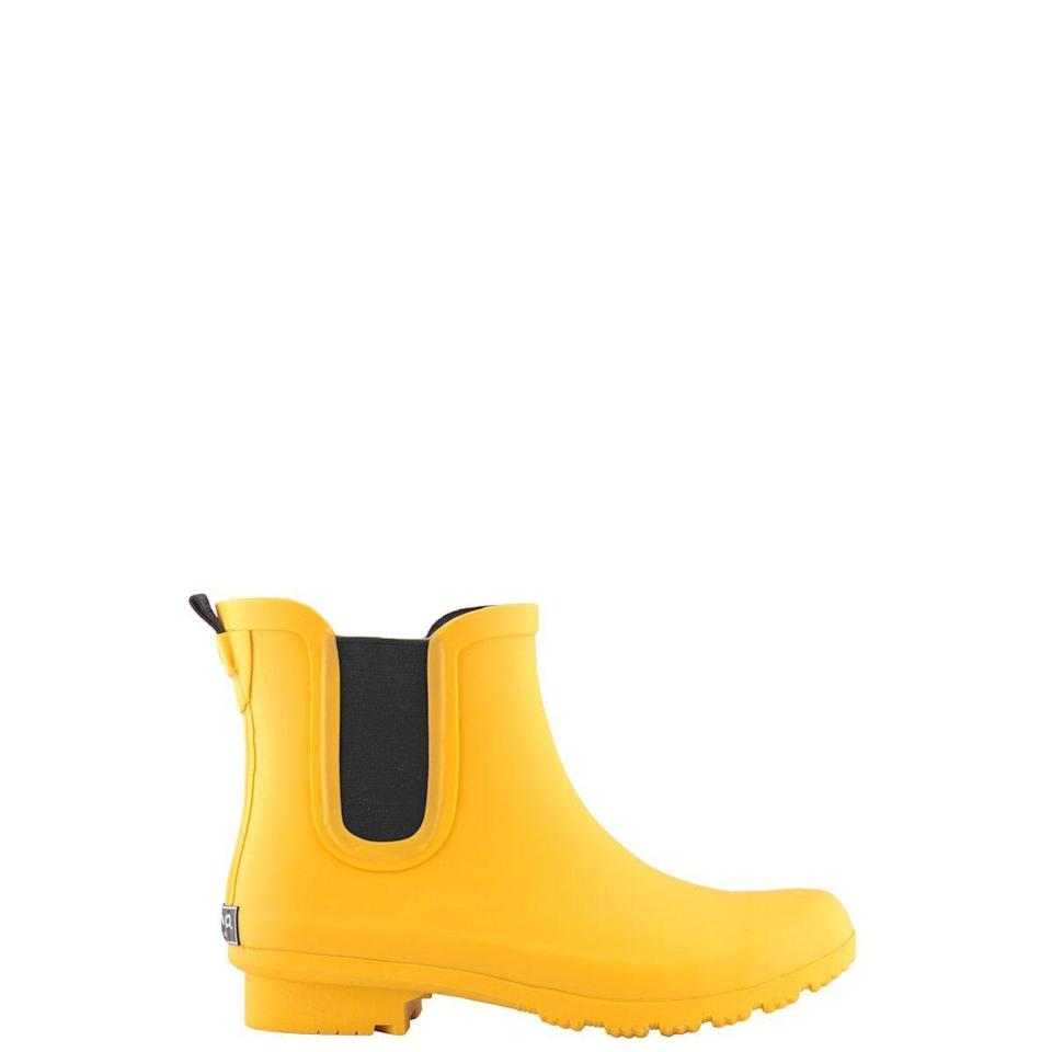 """<p><strong>Roma Boots</strong></p><p>amazon.com</p><p><strong>$69.00</strong></p><p><a href=""""https://www.amazon.com/dp/B081KXZ419?tag=syn-yahoo-20&ascsubtag=%5Bartid%7C10063.g.34770397%5Bsrc%7Cyahoo-us"""" rel=""""nofollow noopener"""" target=""""_blank"""" data-ylk=""""slk:SHOP NOW"""" class=""""link rapid-noclick-resp"""">SHOP NOW</a></p><p>Not only will these rain boots keep your feet dry, but they also come in 10 different colors and patterns. For every pair of Roma boots sold, a brand new pair of rain boots is donated to a child living in poverty. </p>"""