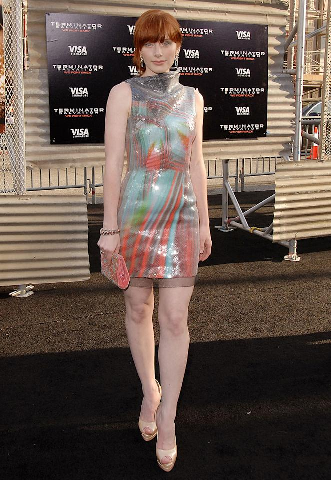 "<a href=""http://movies.yahoo.com/movie/contributor/1808534469"">Bryce Dallas Howard</a> at the Los Angeles premiere of <a href=""http://movies.yahoo.com/movie/1810025211/info"">Terminator Salvation</a> - 05/14/2009"