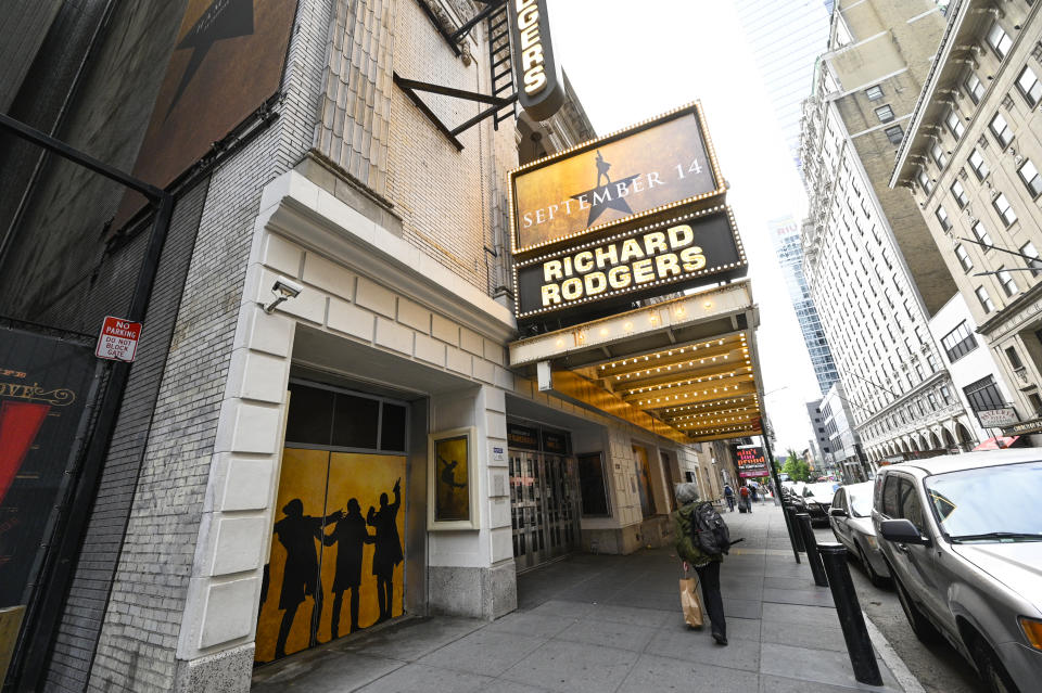 The Richard Rogers Theatre set to reopen in September 2021 after COVID-19 closure, pictured on Monday, May 24, 2021, in New York. (Photo by Evan Agostini/Invision/AP)