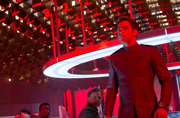 Captain Kirk, played by Chris Pine
