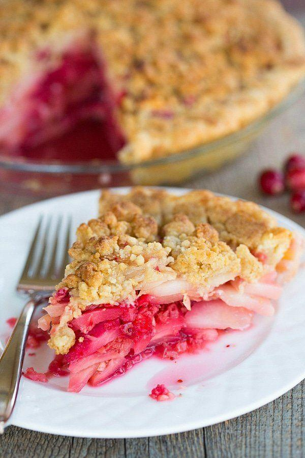 "<strong>Get the recipe for <a href=""https://www.browneyedbaker.com/cranberry-ginger-pear-pie/"" target=""_blank"">Cranberry Ginger Pie</a> from Brown Eyed Baker</strong>"