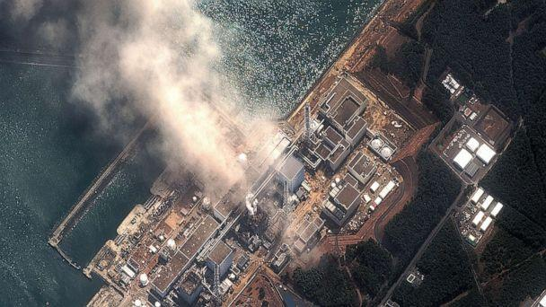 PHOTO: In this satellite view, the Fukushima Dai-ichi Nuclear Power plant after a massive earthquake and subsequent tsunami, March 14, 2011, in Futaba, Japan.  (DigitalGlobe via Getty Images)
