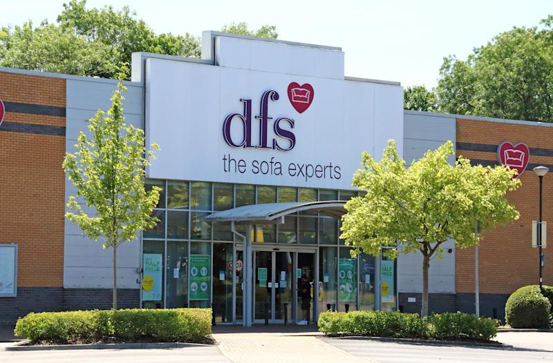 DFS Furniture and sofa store seen in London. Photo: Keith Mayhew/SOPA Images/LightRocket via Getty Images