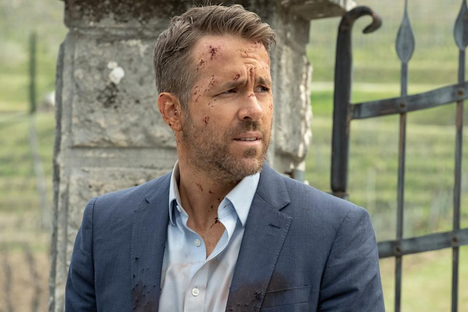 Ryan Reynolds as Michael Bryce in Hitman's Wife's Bodyguard. (PHOTO: Golden Village Pictures)