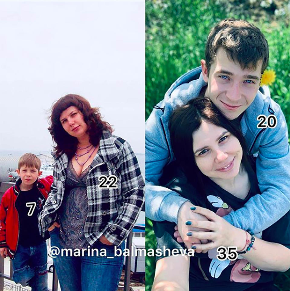 The pair's relationship was first plunged into the limelight when a throwback snap shared by Marina of herself at 22-year-old posing with the then-7-year-old Vladimir went viral. Photo: East2West News/Australscope