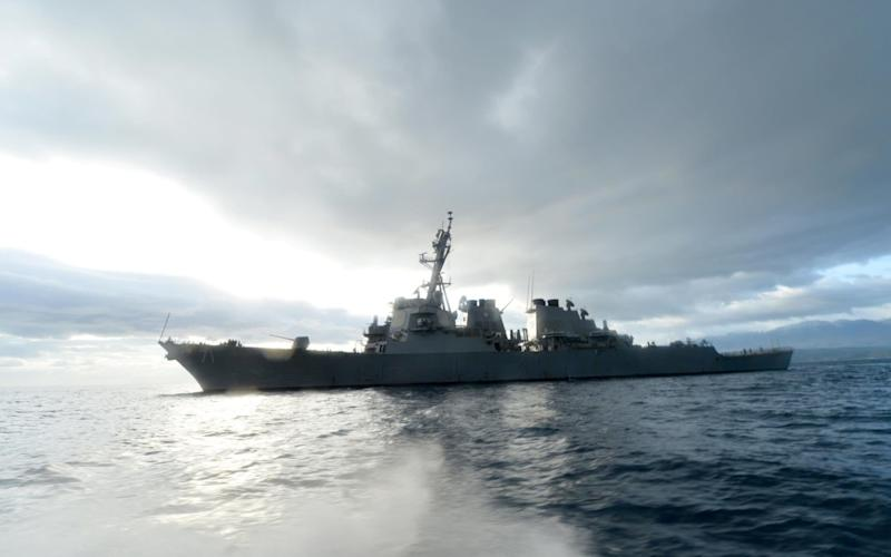 U.S. Navy guided-missile destroyer USS Ross, from which the missiles were launched - Credit: Reuters