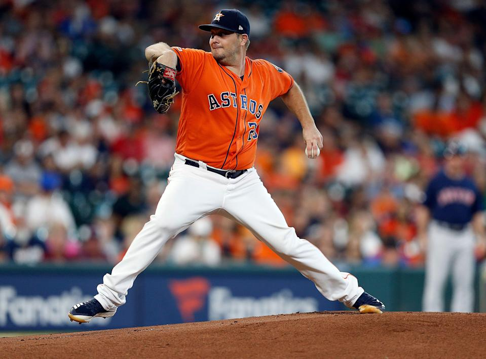 Astros pitcher Wade Miley is suddenly back on the fantasy radar with Houston. (Photo by Bob Levey/Getty Images)