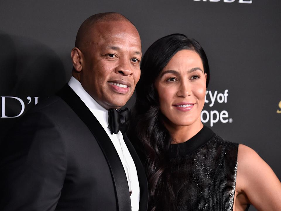 Dr Dre and Nicole Young photographed in 2018 (Getty Images)