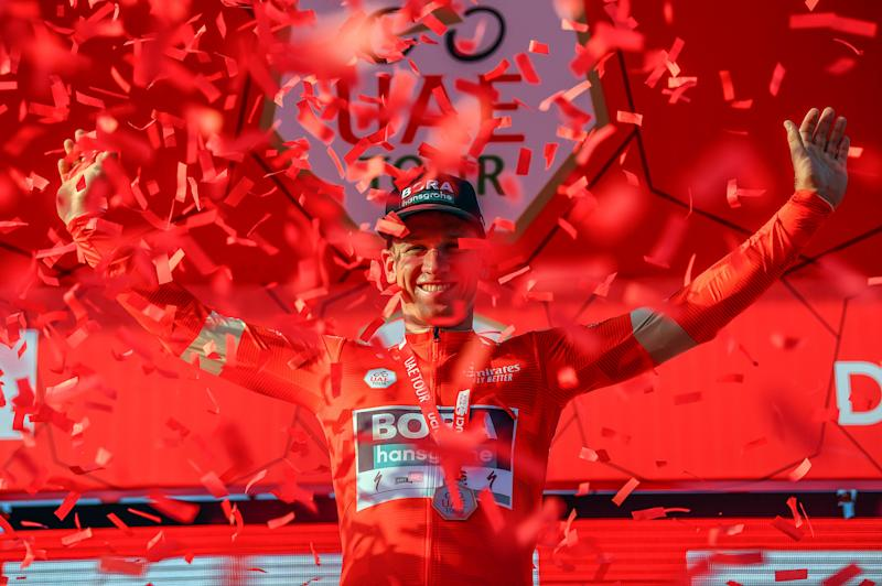 Pascal Ackermann (Bora-Hansgrohe) looks good in red