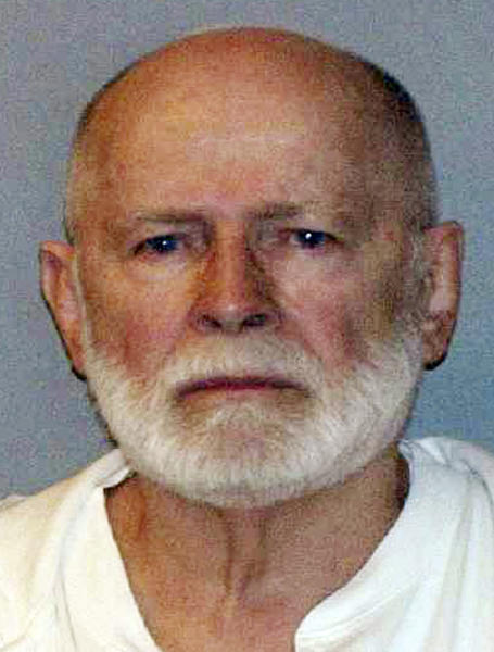 """FILE - This June 23, 2011 booking photo provided by the U.S. Marshals Service shows James """"Whitey"""" Bulger, one of the FBI's Ten Most Wanted fugitives, captured in Santa Monica, Calif., after 16 years on the run. Bulger's trial begins with jury selection on Tuesday, June 4, 2013 in federal court in Boston. (AP Photo/ U.S. Marshals Service, File)"""