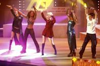 """<p>The Spice Girls were everything! Formed in 1994, they went on to sell 85 million records globally and become 90s icons. They released their highly successful single '<a href=""""https://www.youtube.com/watch?v=gJLIiF15wjQ"""" rel=""""nofollow noopener"""" target=""""_blank"""" data-ylk=""""slk:Wannabe"""" class=""""link rapid-noclick-resp"""">Wannabe</a>' in July and it blew our minds. </p>"""
