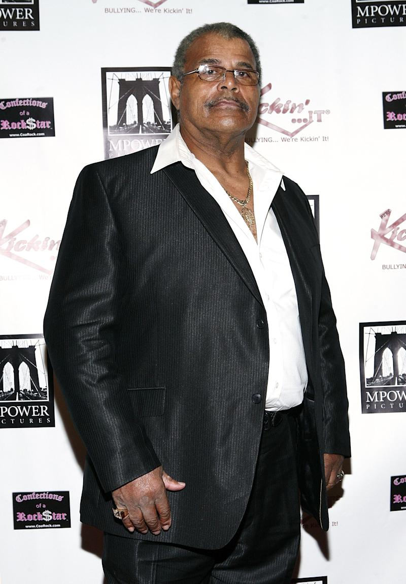 Rocky Johnson at a charity event