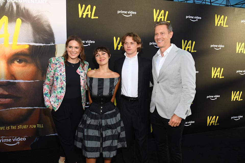 Co-Head of Movies at Amazon Studios Julie Rapaport, Mercedes Kilmer, Jack Kilmer and Co-Head of Movies at Amazon Studios Matt Newman attend the premiere of Val at the Directors Guild of America on August 3, 2021 in Los Angeles, California. - Credit: Michael Buckner for PMC