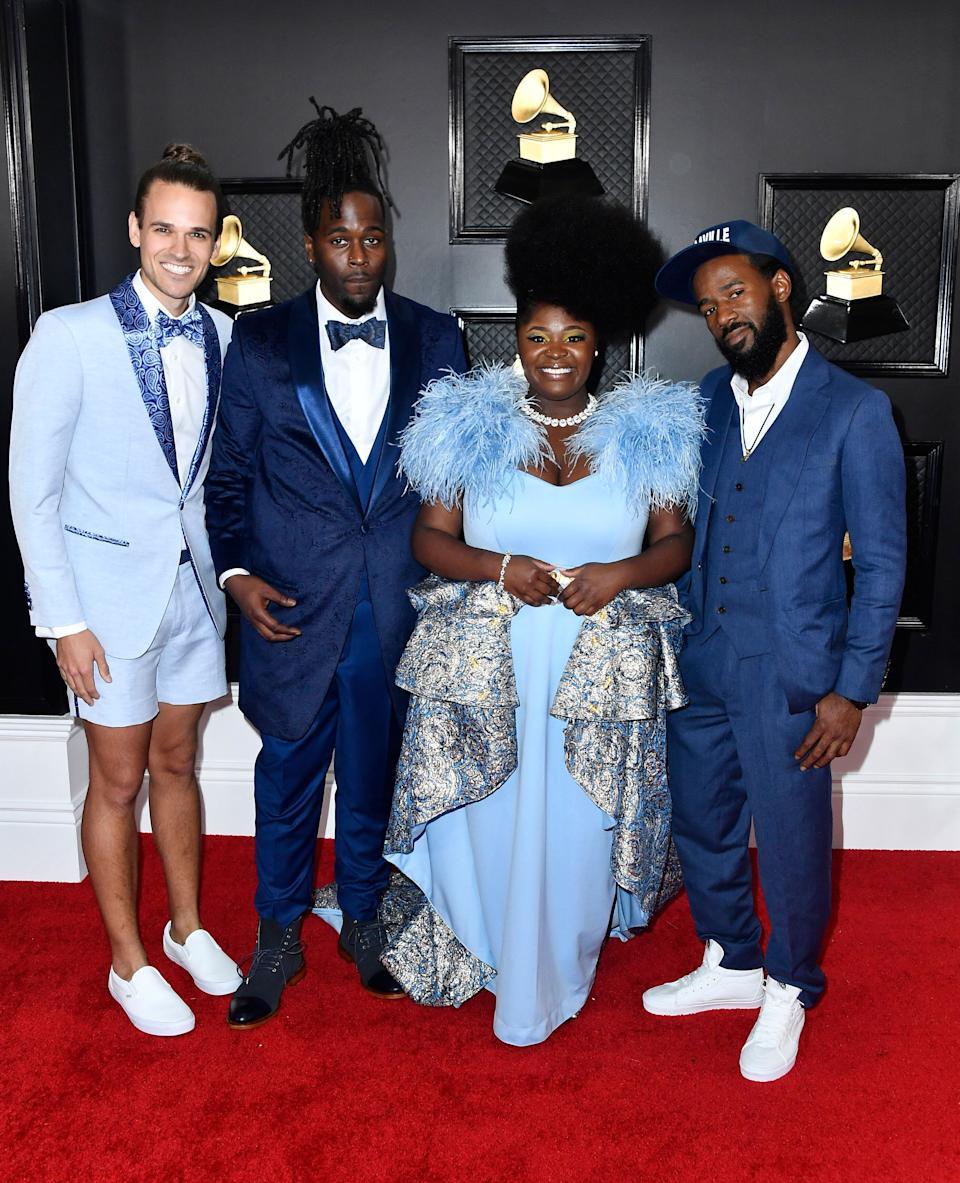 We all need to have more fun on the red carpet! Funk band Tank and the Bangas gets it.