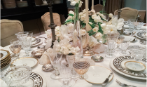 "<p>Event designer <a href=""https://www.gloriosadesign.com/"" rel=""nofollow noopener"" target=""_blank"" data-ylk=""slk:Keith Robinson"" class=""link rapid-noclick-resp"">Keith Robinson</a> created this stunning table for a New Year's Eve soiree with glitzy tableware, white tablecloths, and elegant flower arrangements for a luxurious holiday at home. His vintage gold Greek-key china and enviable collection of crystalware make for an understated and chic table. </p>"