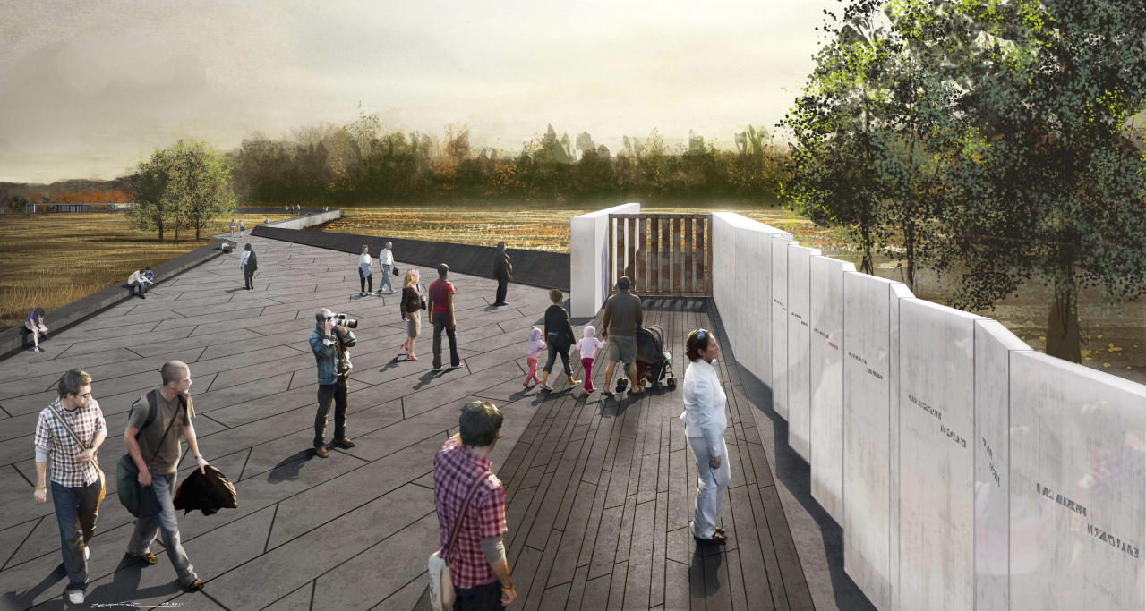The National Park Service on June 27, 2011 released new design images of a planned memorial to the victims of Flight 93, being built in the Pennsylvania field near Shanksville, Pennsylvania where it crashed on September 11, 2001. (REUTERS/Courtesy NPS/Handout)