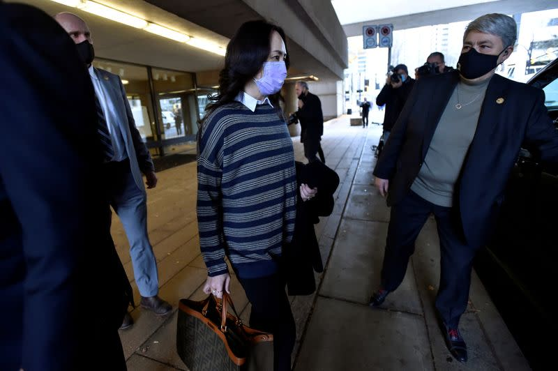 FILE PHOTO: Huawei Technologies Chief Financial Officer Meng leaves court in Vancouver