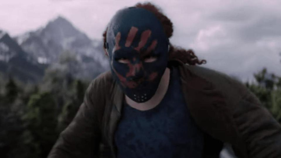 Erin Kellyman wears a mask in The Falcon and the Winter Soldier.