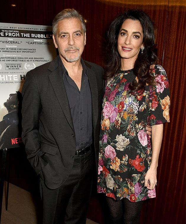 After months of speculation, it was confirmed George and Amal are expecting twins later this year. Photo: Getty images