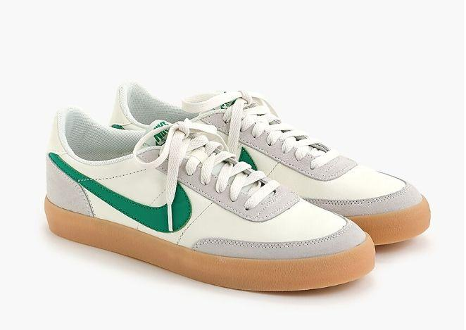"These leather sneakers are very cool, according to people who know such things! Buy them <a href=""https://www.jcrew.com/ca/p/mens_category/brandswelove/shoes/nike-killshot-2-sneakers/85231?color_name=white"" target=""_blank"" rel=""noopener noreferrer"">at J. Crew</a> for $132."
