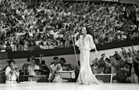 <p>Diana Ross continued to tour internationally and record new music throughout the '80s. She released her 13th studio album, <em>Silk Electric,</em> in 1982. </p>