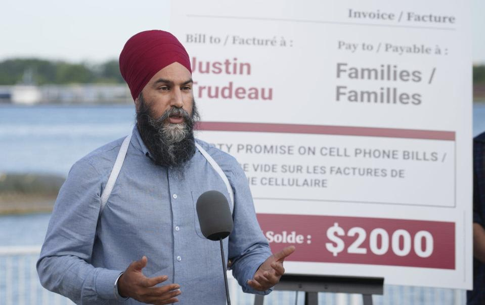 """<span class=""""caption"""">NDP leader Jagmeet Singh responds to a question during a news conference in Windsor, Ont., as he criticizes the Liberals. Strategic voting, when it's in play, often serves to hurt the NDP. But is it effective in preventing Conservative victories?</span> <span class=""""attribution""""><span class=""""source"""">THE CANADIAN PRESS/Paul Chiasson</span></span>"""