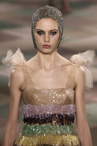 Theatrical makeup at Christian Dior