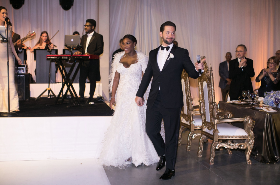 <p>Serena's third – and final – dress was a longer Versace number, which the sportswoman paired with a shrug. <em>[Photo: Vogue Magazine]</em> </p>