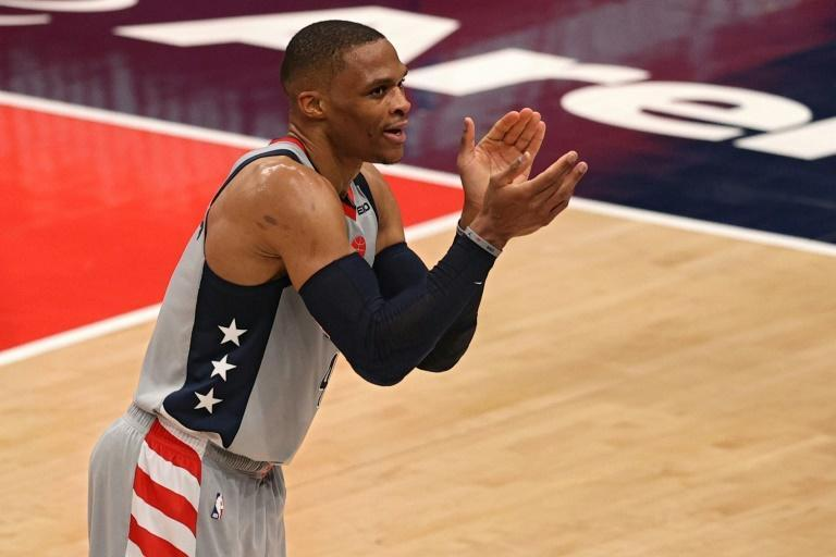 Russell Westbrook of the Washington Wizards has tied Oscar Robertson for most triple-doubles in NBA history
