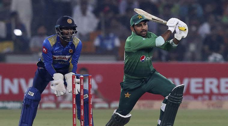 Sarfaraz Ahmed in action in the first T20I. (Source: AP Photo)