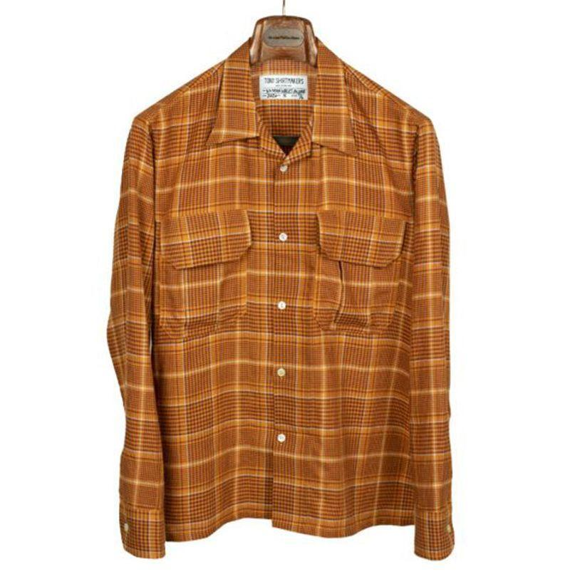 """<p><strong>Tony Shirtmakers</strong></p><p>nomanwalksalone.com</p><p><strong>$325.00</strong></p><p><a href=""""https://nomanwalksalone.com/shopby/new-items/cargo-pocket-long-sleeve-camp-shirt-in-burnt-orange-retro-plaid-cotton-and-lyocell.html"""" rel=""""nofollow noopener"""" target=""""_blank"""" data-ylk=""""slk:Shop Now"""" class=""""link rapid-noclick-resp"""">Shop Now</a></p>"""