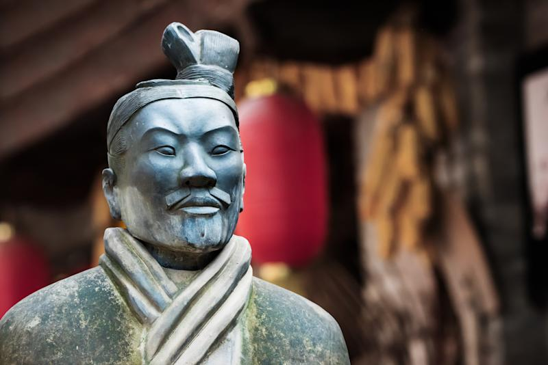 Terracotta warrior statue in Xi'an, China. Sun Tzu was an ancient Chinese general, military strategist and philosopher from 5 BC. (Source: Getty)
