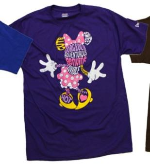 A new Disney t-shirt describes Minnie Mouse as