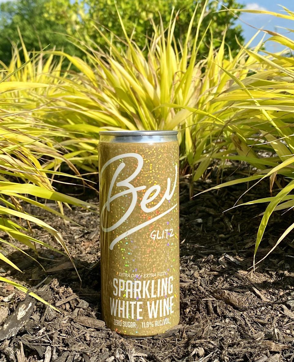 <p>The <span>Bev Glitz Sparkling White Wine</span> ($47 for 8, $95 for 24, $175 for 48 with Bev Club subscription) is absolutely fabulous, from the packaging to the taste. With notes of elderflower and pear, and a drier taste, this is truly a delicious sparkling white wine. It's light and flavorful, perfect for relaxing beach days or at-home spa days.</p>