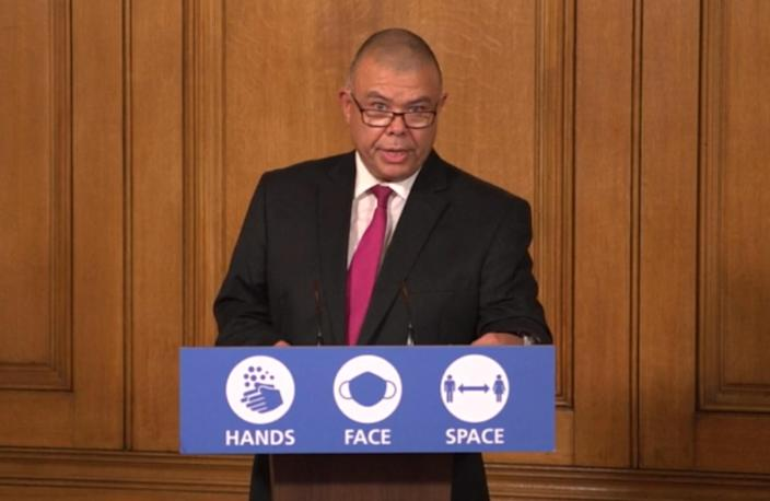 Screen grab of Deputy Chief Medical officer Jonathan Van-Tam during a media briefing in Downing Street, London, on coronavirus (COVID-19). (Photo by PA Video/PA Images via Getty Images)