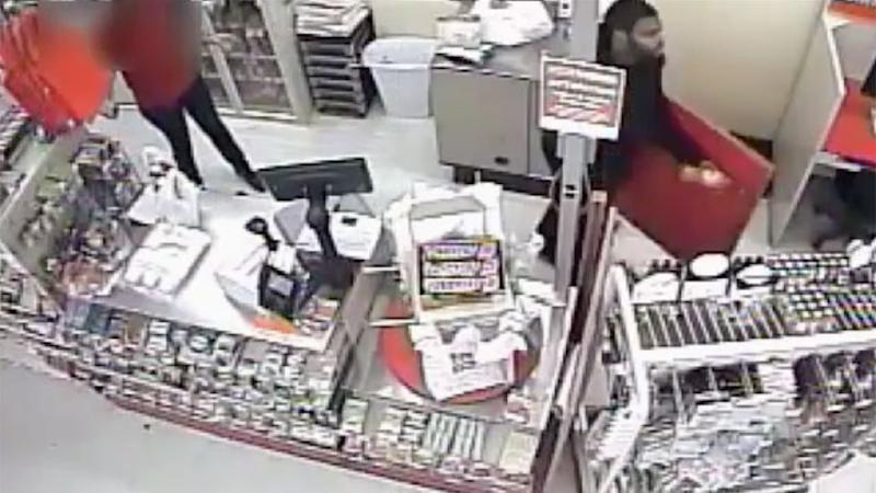 The careless robber can be running out of the store with an unkown amount of cash. Photo: Philly Police
