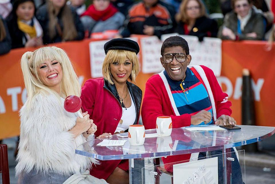 <p>Sticking with the '90s theme, Dylan Dreyer gave Baby Spice from the Spice Girls a solo career with a lollipop in-hand, while Tamron Hall perfectly channeled Julia Roberts' Vivian in <em>Pretty Woman</em>. </p>