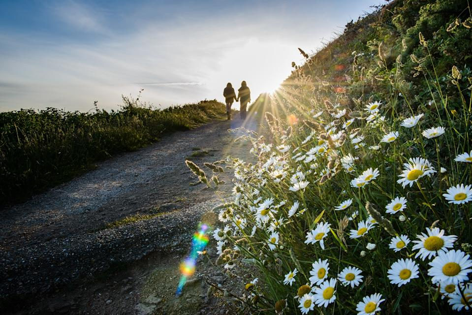 Guernsey's pretty clifftop paths are perfect for walkers.